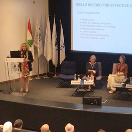Mrs. Bou Diab, speaker at 2nd Annual Forum on Governance in Banks & Financial Institutions