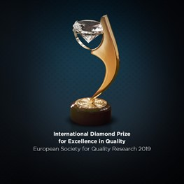 International Diamond Prize for Excellence in Quality - European Society for Quality Research 2019